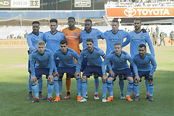 March 11, 2018 - New York, New York, United States - NYC FC starting XI poses before regular MLS game against LA Galaxy at Yankee stadium NYC FC won 2 - 1  (Credit Image: © Lev Radin/Pacific Press via ZUMA Wire)