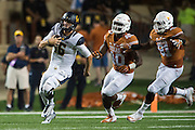 AUSTIN, TX - SEPTEMBER 19:  Jared Goff #16 of the California Golden Bears scrambles against the Texas Longhorns on September 19, 2015 at Darrell K Royal-Texas Memorial Stadium in Austin, Texas.  (Photo by Cooper Neill/Getty Images) *** Local Caption *** Jared Goff
