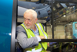 Labour leader Jeremy Corbyn at the Alexander Dennis factory in Falkirk during a four-day visit to Scotland. pic copyright Terry Murden @edinburghelitemedia