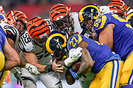 LA Rams Running Back Darrell Henderson (27) in action during the International Series match between Los Angeles Rams and Cincinnati Bengals at Wembley Stadium, London, England on 27 October 2019.