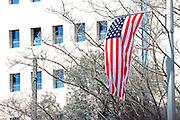 American Flag in Jerusalem during US President's Barack Obama visit in Israel March 21st 2013