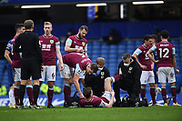 Football - 2020 / 2021 Premier League - Chelsea vs Burnley - Stamford Bridge<br /> <br /> Burnley's Chris Wood receiving medical attention during the game.<br /> <br /> COLORSPORT/ASHLEY WESTERN