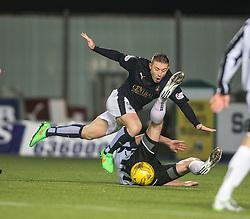Falkirk's John Baird brought down. <br /> Falkirk 4 v 1 Fraserburgh, Scottish Cup third round, played 28/11/2015 at The Falkirk Stadium.