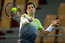 Aljaz Bedene of Slovenia playing doubles during the Day 2 of Davis Cup 2018 Europe/Africa zone Group II between Slovenia and Poland, on February 4, 2018 in Arena Lukna, Maribor, Slovenia. Photo by Vid Ponikvar / Sportida
