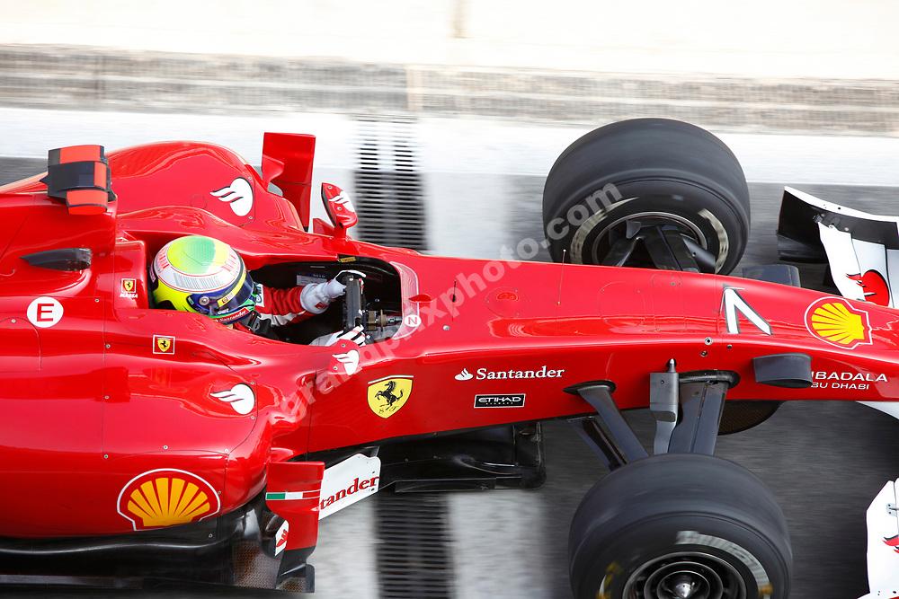 Felipe Massa (Ferrari) seen from above during practice for the 2010 Korean Grand Prix at the Korea International Circuit in Yeongam. Photo: Grand Prix Photo