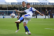 Michael Kelly (28) of Bristol Rovers clears the ball from Antoni Sarcevic (7) of Plymouth Argyle during the EFL Sky Bet League 1 match between Bristol Rovers and Plymouth Argyle at the Memorial Stadium, Bristol, England on 8 September 2018.