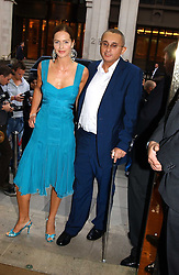 TRINNY WOODALL and her husband JONNY ELICHAOFF at '4 Inches' a project 'For Women about Women By Women' - A photographic Auction in aid of the Elton John Aids Foundation hosted by Tamara Mellon President of Jimmy Choo and Arnaud Bamberger MD of Cartier UK at Christie's, 8 King Street, London W1 on 25th May 2005.<br />