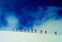 Climbing Col du Mont Brule, Haute Route, Switzerland