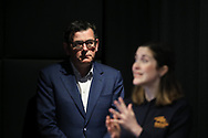 Victorian Premier Daniel Andrews looks on during a press conference at Treasury Theatre. Victoria's health minister Jenny Mikakos has resigned on Saturday after the hotel quarantine inquiry. Premier Daniel Andrews gave evidence on the final day of the inquiry on Friday saying he regarded Jenny Mikakos accountable for the program that ultimately led to Victoria's COVID-19 second wave.  (Photo by Dave Hewison/Speed Media)