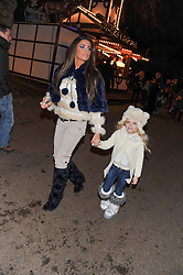 KATIE PRICE and her daughter PRINCESS at the opening of the 2012 Winter Wonderland, Hyde Park on 22nd November 2012.