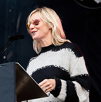 Jo Whiley  letters live at the  Wilderness Festival Cornbury Park Oxfordshire,photo by Mark Anton Smith