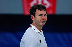 06-10-2002 ARG: World Champioships Netherlands - Brasil, Santa Fe<br /> Coach Bert Goedkoop / NEDERLAND - BRAZILIE 0-3<br /> WORLD CHAMPIONSHIP VOLLEYBALL 2002 ARGENTINA<br /> SANTA FE / 06-10-2002