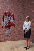 Brick Suit 2010 by Anthea Hamilton - Turner Prize exhibition, Tate Britain - the four shortlisted artists in 2016 are: Michael Dean, Anthea Hamilton, Helen Marten and Josephine Pryde. It is at Tate Britain from 27 September 2016 to 2 January 2017.