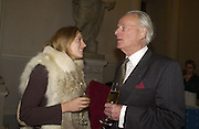 Tallulah Rendall and Christopher Buxton. Launch of ' The World of Private Castles, Palaces and Estates. Syon House. 31 October 2005. ONE TIME USE ONLY - DO NOT ARCHIVE © Copyright Photograph by Dafydd Jones 66 Stockwell Park Rd. London SW9 0DA Tel 020 7733 0108 www.dafjones.com