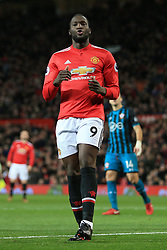30th December 2017 - Premier League - Manchester United v Southampton - Romelu Lukaku of Man Utd looks dejected after missing a free header early on - Photo: Simon Stacpoole / Offside.