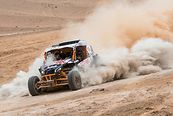 Francisco Chaleco Lopez (CHL) races during stage 04 of Rally Dakar 2019 from Arequipa to o Tacna, Peru on January 10, 2019 // Marcelo Maragni/Red Bull Content Pool // AP-1Y39E8S8D1W11 // Usage for editorial use only // Please go to www.redbullcontentpool.com for further information. //