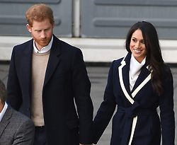 Prince Harry and fiancee Meghan Markle pay their first royal visit to Birmingham The pair arrived in the city at 11am for a whistle -stop tour, taking in Millennium Point and Nechells Wellbeing Centre. 08 Mar 2018 Pictured: Prince Harry ,Meghan Markle. Photo credit: Neil Warner/MEGA TheMegaAgency.com +1 888 505 6342