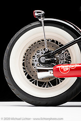 Brian Klock's Cherry Bomb, built in 2004, is a 1550 Harley-Davidson Polished engine. Photographed by Michael Lichter in Sturgis, SD. August 1st, 2020. ©2020 Michael Lichter