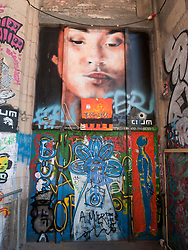 Entrance door to Tacheles Kunsthaus or Art Gallery alternative collective on Oranienburger strasse in Mitte Berlin Germany