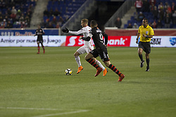 March 13, 2018 - Harrison, New Jersey, United States - Daniel Royer (77) of Red Bulls contorls ball during Scotiabank Concacaf Champions League quarterfinal second leg game against Club Tijuana at Red Bull Arena Red Bulls won 3 - 1  (Credit Image: © Lev Radin/Pacific Press via ZUMA Wire)