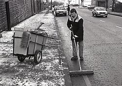 Street cleaner Nottingham 1987