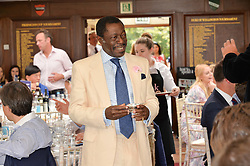 PRINCE ALBERT ESIRI of Nigeria at The Royal Salute Coronation Cup Polo held at Guards Polo Club,  Smiths Lawn, Windsor Great Park, Egham on 23rd July 2016.