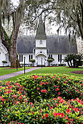 The Christ Church in St. Simons Island, Georgia. The original wooden church was built in 1820 then destroyed in the Civil War and rebuilt as it stands today in 1884.