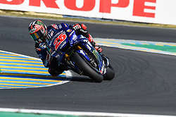 May 18, 2018 - Le Mans, France - Maverick Vinales during the practice sessions.during MotoGP Le Mans practice sessions in France  (Credit Image: © Gaetano Piazzolla/Pacific Press via ZUMA Wire)