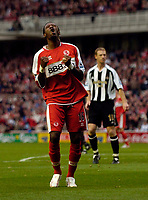 Photo: Jed Wee.<br /> Middlesbrough v Newcastle United. The Barclays Premiership. 22/10/2006.<br /> <br /> Middlesbrough's Jason Euell.