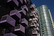 Apartment balconies of new housing in the 2012 Olympic development zone built by contractor Armore.
