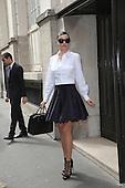 Miranda Kerr leaving Vitamin store Azzedine Alaia in Paris