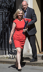 Downing Street, London, July 19th 2016. Justice Secretary and Lord Chancellor Liz Truss leaves the first full cabinet meeting since Prime Minister Theresa May took office.