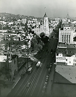 1946 Looking east on Hollywood Blvd. from Orange Dr.