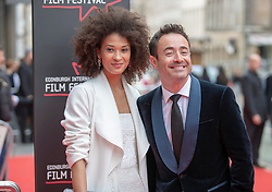 The Edinburgh International Film Festival Opening Night Premiere features the film Puzzle. Directed by Mark Turtletaub it stars Kelly Macdonald and Irrfan Khan. <br /> <br /> Pictured: Joe McFadden and Mary Jean Walsh
