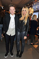 CONOR MAYNARD and ZARA MARTIN at an invitation-only acoustic performance by Rita Ora hosted by Calvin Klein Jeans at their Regent Street Store, London on 18th February 2013.
