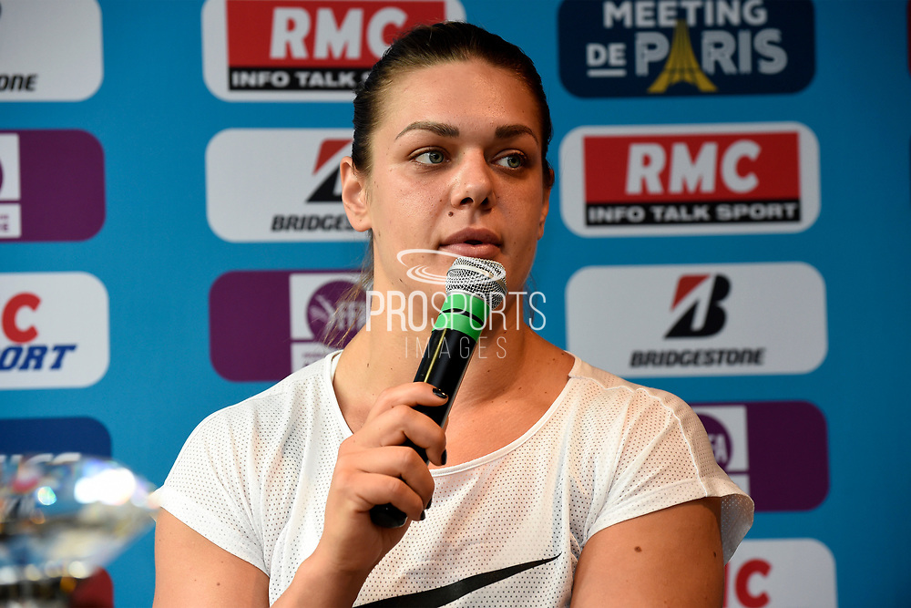 Sandra Perkovic (CRO) during press conference of Meeting de Paris 2018, Diamond League, at Hotel Marriott, in Paris, France, on June 29, 2018 - Photo Jean-Marie Hervio / KMSP / ProSportsImages / DPPI