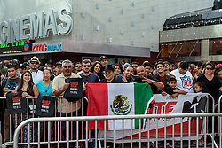 LOS ANGELES, CA - MARCH 2: Fans await for Canelo vs Khan press conference at Universal CityWalk - Five Towers Stage on March 2, 2016 in Los Angeles. Canelo vs. Khan, a 12-round fight for Canelo's WBC, Ring Magazine and Lineal Middleweight World Championships, is promoted by Golden Boy Promotions in association with Canelo Promotions and sponsored by Cerveza Tecate, BORN BOLD, O'Reilly Auto Parts and Casa Mexico Tequila. The mega-event will take place on Saturday, May 7 at T-Mobile Arena in Las Vegas and will be produced and distributed live by HBO Pay-Per-View beginning at 9:00 p.m. ET/6:00 p.m. PT. Byline, credit, TV usage, web usage or linkback must read SILVEXPHOTO.COM. Failure to byline correctly will incur double the agreed fee. Tel: +1 714 504 6870.