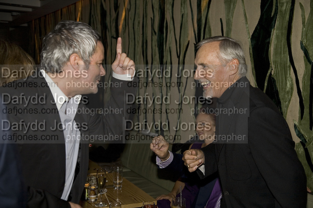 NELLEE HOOPER AND DENNIS HOPPER, Party hosted by Larry Gagosian at Nobu, Berkeley St. London. 9 October 2007. -DO NOT ARCHIVE-© Copyright Photograph by Dafydd Jones. 248 Clapham Rd. London SW9 0PZ. Tel 0207 820 0771. www.dafjones.com.