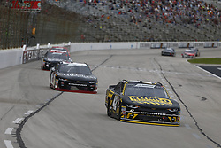 November 3, 2018 - Ft. Worth, Texas, United States of America - John Hunter Nemechek (42) battles for position during the O'Reilly Auto Parts Challenge at Texas Motor Speedway in Ft. Worth, Texas. (Credit Image: © Justin R. Noe Asp Inc/ASP via ZUMA Wire)