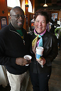 Andre Lee and Carol Ann Shine at The Black House during the 2008 Sundance Film Festival. ..HISTORY..The Blackhouse Foundation was created in 2007 by a group of dedicated individuals interested in black cinema - preserving and furthering its legacy. Black House works to provide a platform for African American filmmakers to use their voice to tell stories by and about African Americans in the world of independent and feature films...Black filmmakers made history in 2007, the year The Blackhouse Foundation launched the Blackhouse® venue at the 2007 Sundance Film Festival.  Blackhouse® played host to over 150 daily visitors with more than 1,200 people visiting the venue throughout the festival.  Blackhouse® was open to the public throughout the day, hosted workshops, a legendary nightly cocktail hour, a marquee party for Our Stories Films, LLC and launched a landmark fellows program for young, aspiring filmmakers.  ..MISSION..The mission of the Blackhouse Foundation is to expand opportunities for Black filmmakers by providing a physical venue for our constituents at the world's most prominent film festivals and creating a nucleus for continuing support, community, education and knowledge.  .
