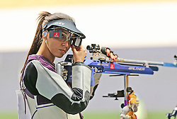 05.09.2015, Olympia Schiessanlage Hochbrueck, Muenchen, GER, ISSF World Cup 2015, Gewehr, Pistole, Damen, 10 Meter Luftgewehr, im Bild Ivana Maksimovic (SRB) // during the women's 10M air rifle competition of the 2015 ISSF World Cup at the Olympia Schiessanlage Hochbrueck in Muenchen, Germany on 2015/09/05. EXPA Pictures © 2015, PhotoCredit: EXPA/ Eibner-Pressefoto/ Wuest<br /> <br /> *****ATTENTION - OUT of GER*****