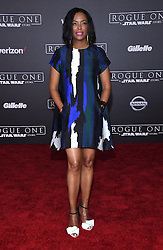 Celebrities walk the red carpet for the 'Rogue One: A Star Wars Story' world premiere held at the Pantages Theatre in Hollywood. 10 Dec 2016 Pictured: Aisha Tyler. Photo credit: American Foto Features / MEGA TheMegaAgency.com +1 888 505 6342