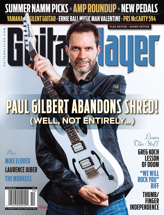 Paul Gilbert for Guitar Player Magazine