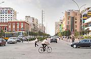 The Tirana Main Central Square, Skanderbeg Skanderburg Square. Tirana capital. Albania, Balkan, Europe.