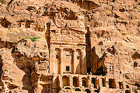 Petra is Jordan's most visited tourist attraction. Rock-cut tombs.