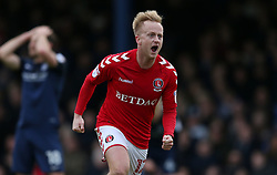Charlton Athletic's Ben Reeves celebrates scoring their first goal of the game