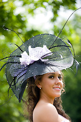 © licensed to London News Pictures.16/06/2011. Ascot, UK.  Ellen Cunningham at Ladies day at Royal Ascot races today (16/06/2011). The 5 day showcase event is one of the highlights of the racing calendar. Horse racing has been held at the famous Berkshire course since 1711 and tradition is a hallmark of the meeting. Top hats and tails remain compulsory in parts of the course. Photo credit should read: Ben Cawthra/LNP