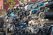 truck with crushed cars