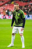 Wayne Rooney (England) warming up ahead of the international Friendly match between England and USA at Wembley Stadium, London, England on 15 November 2018.