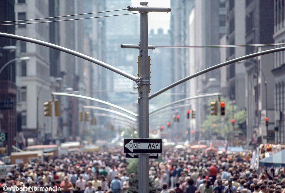 One Way, Park Avenue Street Festival, New York City, New York, USA, May 1983